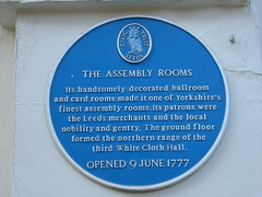 Photo of Assembly Rooms, Leeds blue plaque