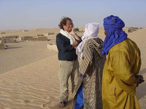 Aebi bei seiner Ankunft in Araouane.