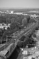 Ochtendje Almere (fmzs2008) Tags: white black netherlands skyline nederland centrum flevoland almere