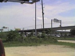 View of IH 45 HOV exit to Kuykendahl Park and Ride (FreewayDan) Tags: texas freeway houstonarea interstate45 hovlane