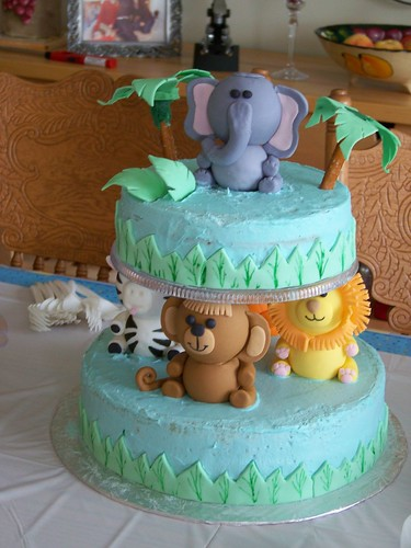 Zoo Shower cake by The Cake Stop
