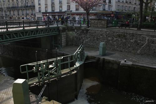 Une des écluses du Canal