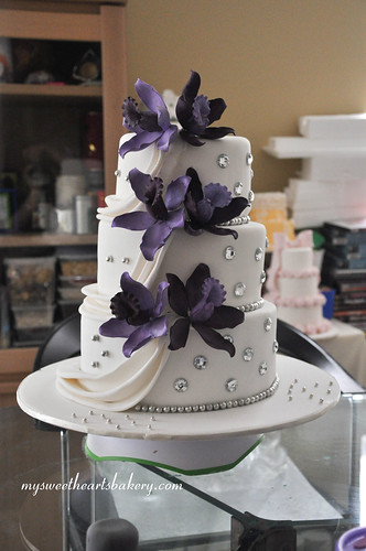 Purple Orchid Wedding Cake Here 39s my latest cake creation