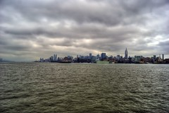 New York City from Hoboken on a cloudy Friday (Dave DiCello) Tags: nyc newyorkcity newyork storm clouds photoshop newjersey nikon flickr day cloudy explorer tripod citylights hudsonriver empirestatebuilding nikkor bigapple newyorknewyork hdr highdynamicrange hoboken bigcity cs4 thebigapple photomatix flickrexplore d40 tonemapped explored timessquarenewyork d40x evad310 davedicello