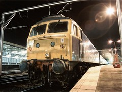 Railway Station, Crewe (dave_in_lincolnshire) Tags: night railwaystation crewe class47