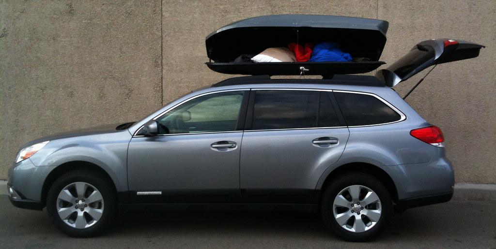 Yakima Amp Thule Roof Cargo Box Thread Subaru Outback