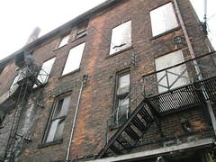 Wall... (CapitalgCapitals) Tags: old ontario canada alley downtown bricks hamilton fireescape
