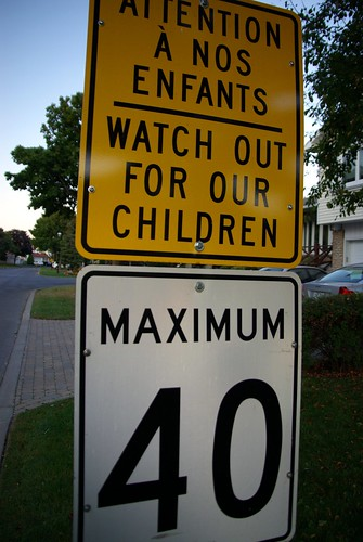 Attention à nos enfants / Maximum 40
