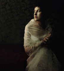 September (martikson) Tags: portrait woman girl lady self dark eyes dress glance darknes martikson themonalisasmile obramaestra