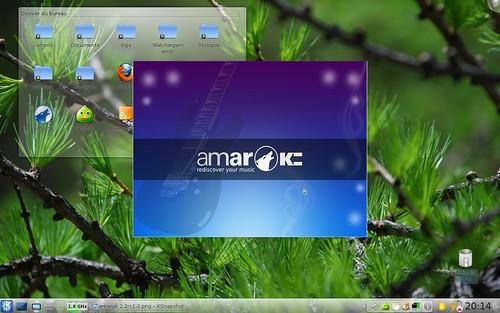 Ecran de démarrage d'Amarok 2.2rc1