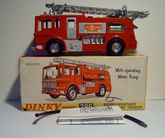 Dinky Toys Merryweather fire engine No.285 Merryweather Fire Engine Model Made Completely From Recycled Materials - 5 Of 5 (Kelvin64) Tags: red art water truck fire corgi artwork engine lorry emergency tender matchbox marquis brigade dinky merryweather