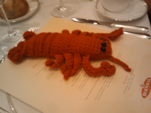 BlogHer Food - crocheted lobster
