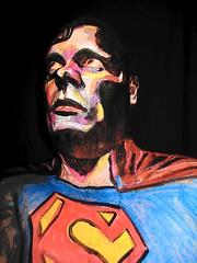 Superman! (hawhawjames) Tags: friends man art face comics painting james book kent paint artist comic mask body steel makeup super superman clark comix hero superhero 365 marvel smallville kuhn kryptonite krypton