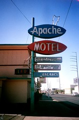 apache (Gigi Elmes) Tags: vegas abandoned film hotel apache closed motel vacancy vivitar uws colortv gigielmes