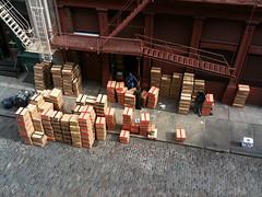 Yellow Rat Boxes (rayweitzenberg) Tags: street nyc yrb manhattan soho mercer cobblestones sidewalk fireescape boxes yellowratbastard