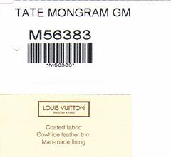 LV TATE MONGRAM GM
