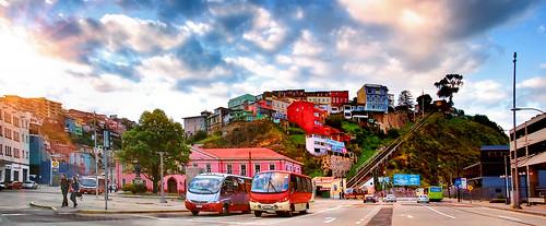 Valparaiso, Plaza Aduana. Playa Ancha. Altamirano. Cerro y Ascensor Artilleria. by Bracani....Antonio.