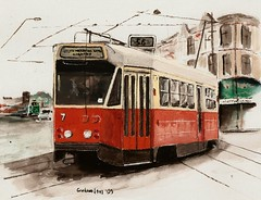 Z1 Tram in Melbourne (Tram Painter) Tags: watercolour z1 melbournetram