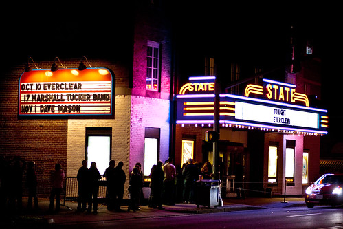 Everclear on marquee at State Theatre