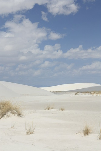 Rolling sand dunes - White Sands National Monument