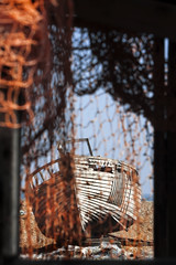 Nets & Wrecks, Dungeness (HartwellPhotography) Tags: uk england orange net beach coast boat kent fishing decay ngc shingle coastal maritime dungeness wreck southcoast 100400mm canon400d