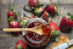 Strawberry jam, fresh strawberries on wooden background (saquizeta) Tags: wood old red food glass closeup fruit vintage bread healthy strawberry berry natural bottles sweet background toast traditional tasty spoon fresh gourmet health homemade jar jelly organic diet jam preserve preserves marmalade ripe ingredient spreads deliciousbreakfast vision:food=0556 vision:outdoor=0759