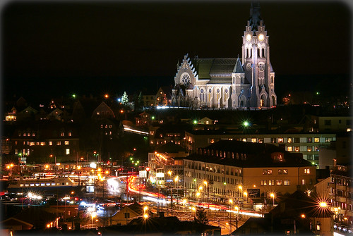 Lysekil photo ville nuit