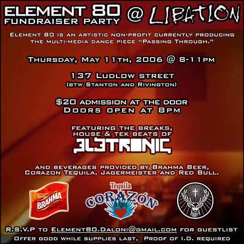 element 80 fundraiser flyer