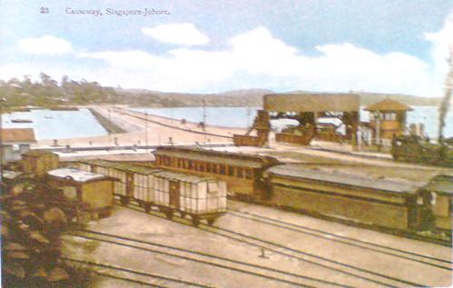 Johor Causeway, 1925 (postcard)
