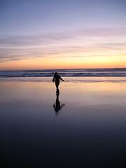 Sunset Silhouette Stride (orianaq) Tags: sunset beach silhouette manzanitaoregon