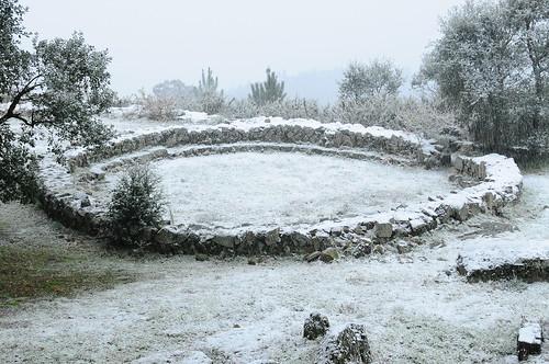 Citânia de Briteiros com Neve