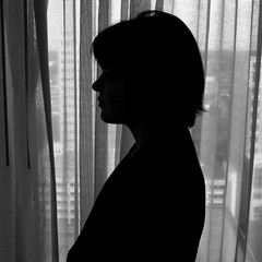Silhouette of a Girl #6: Lindley Battle (mgm photography.) Tags: window girl silhouette profile marriothotel lindleybattle