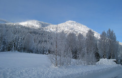 Ringerudkollen (fotomormor) Tags: blue white snow sol himmel hytta s