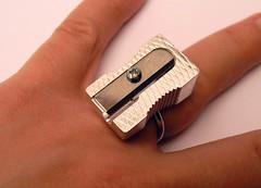 Sharp! (weggart) Tags: recycled handmade jewelry ring sharpener alternativematerialjewelry weggart offbeatjewelry