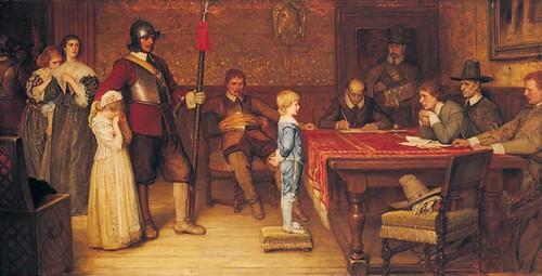 ¿Cuando viste por última vez a tu padre? Propaganda monarquica del siglo XIX, a cuenta de la guerra civil del siglo XVII