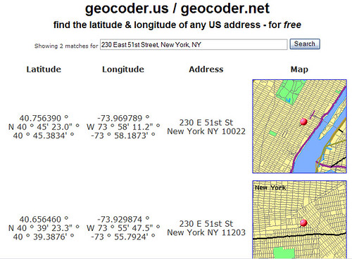 Using geocoder.us to geocode an address