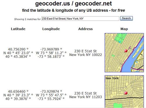 Using geocoder.us to geocode an address