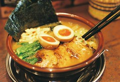 (bobby stokes) Tags: food slr film japan lunch japanese soup egg meat pork ramen noodles analogue