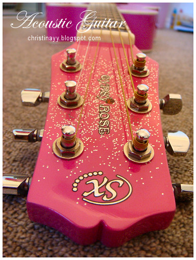 Gypsy Rose: Pink Acoustic Guitar