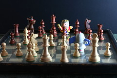 Composition: King x Knight (John-Morgan) Tags: california composition canon toys 50mm king chess games study knight littlepeople johnmorgan