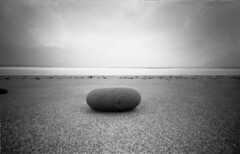 Zen (RealitySoSubtle) Tags: sea 120 beach rock stone strand sand long exposure clare pinhole zen 400 co converted 6x9 neopan fl 40mm folder doonbeg doughmore