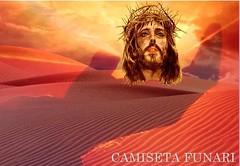 jesus cristo crucificado na mao deus deserto