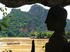 Pak Ou Buddha overlooking the Mekong (B℮n) Tags: topf50 nirvana laos longtailboat pilgrims mekongriver pakou 50faves limestonecliffs lowercave pakoucaves limestonemountains thamting namouriver theunforgettablepictures thamtheung upstreamfromluangprabang laostylebuddhasculpture 2500buddhas