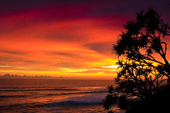 Having A BAD day.... (Michael Dawes) Tags: camera red seascape beach weather sunrise landscape scenery seascapes country scenic australia queensland coastline towns goldcoast burleighheads topshots canon50d sigma18200mmos mytopshots