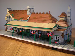 corfe castle station (bricktrix) Tags: station train lego swanage corfecastle legotrain corfecastlestation legostation