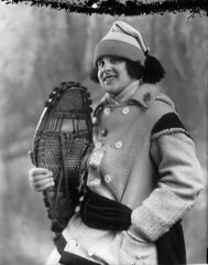 Miss Estelle Doray, snowshoer, Montreal, QC, 1924