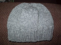 Grey pinwheel beanie (flamehair) Tags: charity knitting beanie