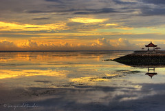 Whispering of Sanur Beach (Sayid Budhi) Tags: morning shadow bali reflection sunrise denpasar sanur sanurbeach artofimages bestcaptureaoi
