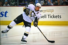 Sid slap shot in warmups (Dave DiCello) Tags: city blue black ice hockey yellow gold nhl penguin penguins team nikon warm pittsburgh shot zoom steel away line arena ups national rink civic stick puck slap practice jerseys pens nikkor sidney league stanleycup mellon igloo crosby 200mm mellonarena civicarena sidneycrosby pittsburghpenguins d40 stanleycupchamps marcandrefleury nationalhockeyleague stanleycupchampions evgenimalkin theigloo d40x maximetalbot pittsburghpens maxtalbot consolenergycenter 2009stanleycupchampions pittsburghpenguinsstanleycupchampionspictures sidneycrosbystanleycup civicarenapittsburghpa sidandgeno penguinhockeyteam mellonarenapittsburgh evad310 davedicello pittsurghpenguins maxtalbotgame7