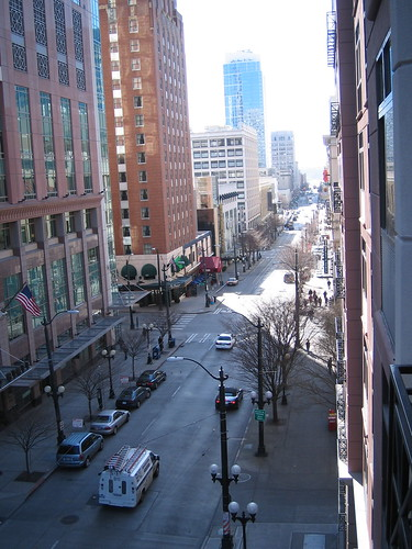 view from room down to Pike Place